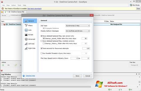 Ekraanipilt GoodSync Windows 7