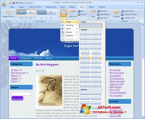 Ekraanipilt Artisteer Windows 7