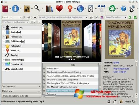 Ekraanipilt Calibre Windows 7