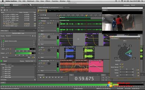 Ekraanipilt Adobe Audition Windows 7