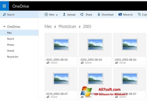 Ekraanipilt OneDrive Windows 7