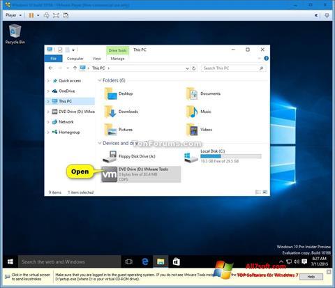 Ekraanipilt Virtual CD Windows 7