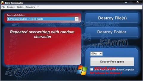 Ekraanipilt Files Terminator Windows 7