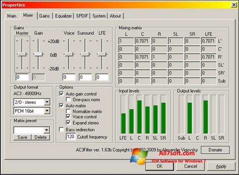 Ekraanipilt AC3 Codec Windows 7