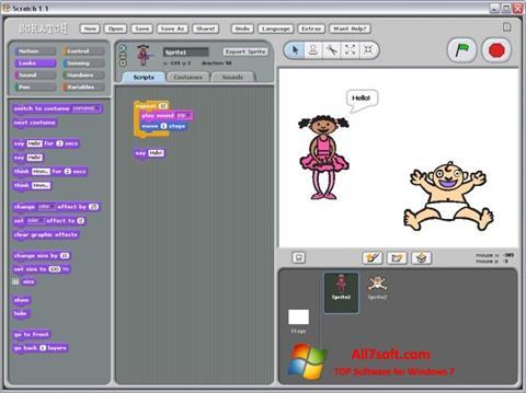 Ekraanipilt Scratch Windows 7