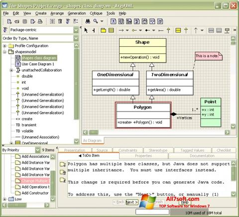 Ekraanipilt ArgoUML Windows 7