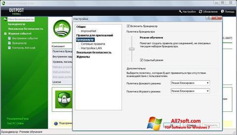 Ekraanipilt Outpost Firewall Free Windows 7