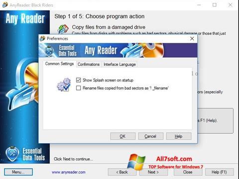 Ekraanipilt AnyReader Windows 7