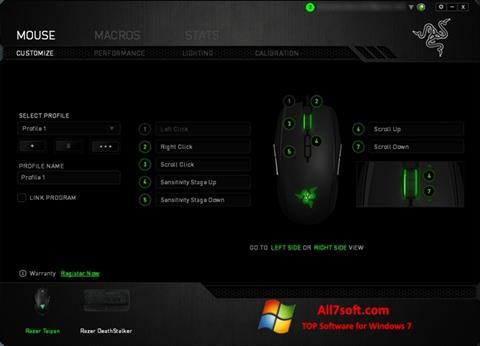 Ekraanipilt Razer Synapse Windows 7