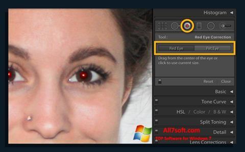 Ekraanipilt Red Eye Remover Windows 7