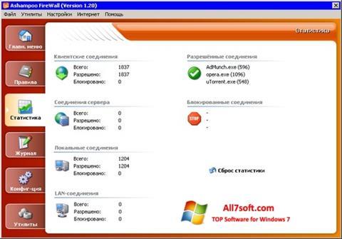Ekraanipilt Ashampoo Firewall Windows 7