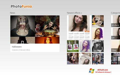 Ekraanipilt PhotoFunia Windows 7