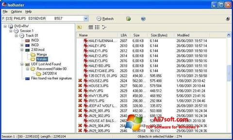 Ekraanipilt IsoBuster Windows 7