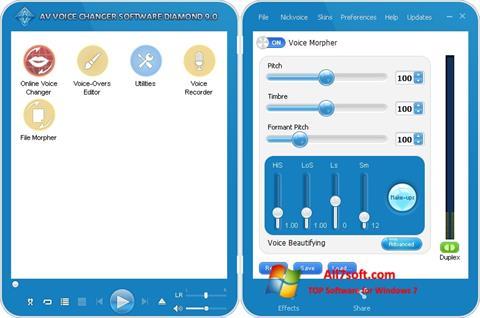 Ekraanipilt AV Voice Changer Diamond Windows 7
