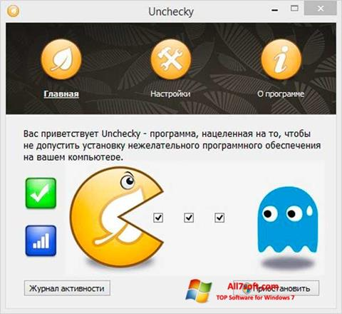 Ekraanipilt Unchecky Windows 7