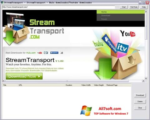 Ekraanipilt StreamTransport Windows 7
