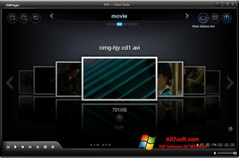 Ekraanipilt KMPlayer Windows 7