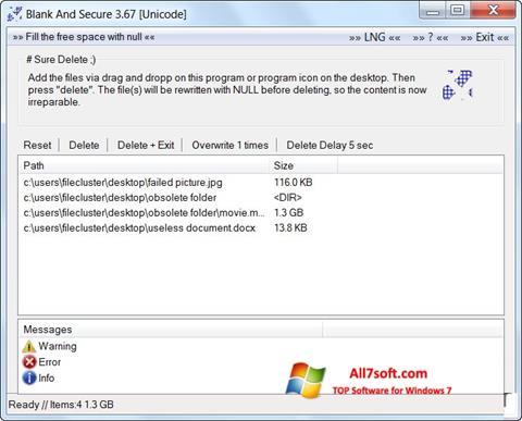 Ekraanipilt Blank And Secure Windows 7